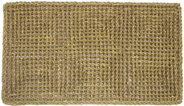 Dennis Cordial Door Mat, 30 in L X 18 in W X 1/2 in T, Seagrass Fiber, Natural