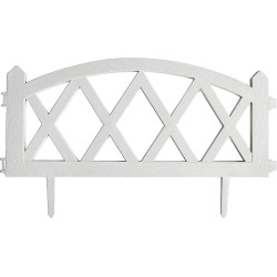FENCE GARDEN WH 4PK 24X13IN