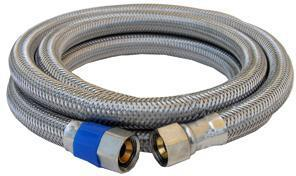10-0960 3/8X24 STAINLESS STEEL DISHWASHER HOSE