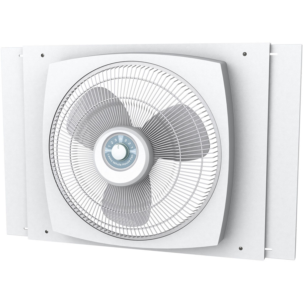 Lasko 2155A Reversible Window Fan, 2470 cfm, 3 Blade, Satin White