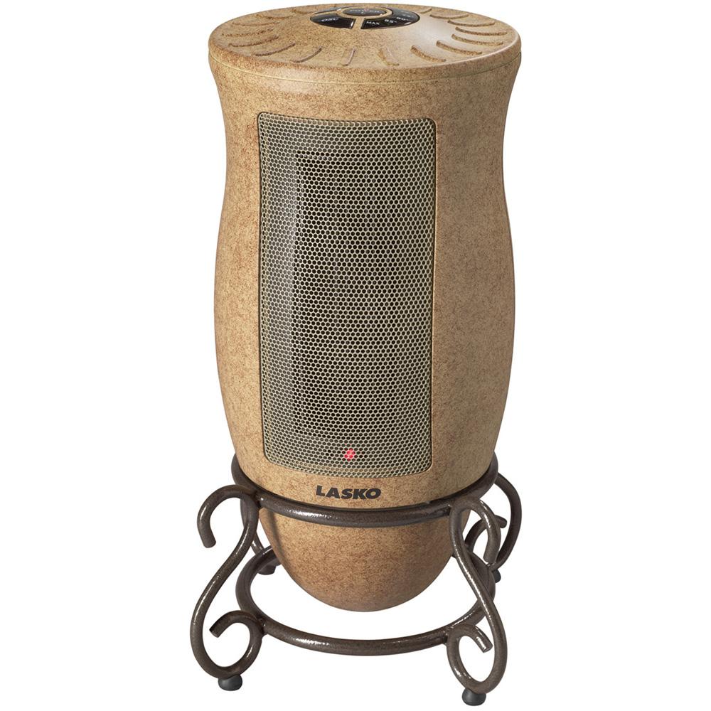 Designer Series Oscillating Ceramic Heater with Metal Scrollwork Base