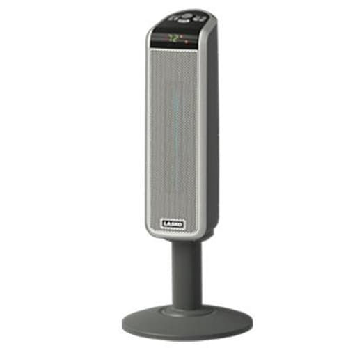 "30"" Tall Digital Ceramic Pedestal Heater with Remote, 2 Settings"