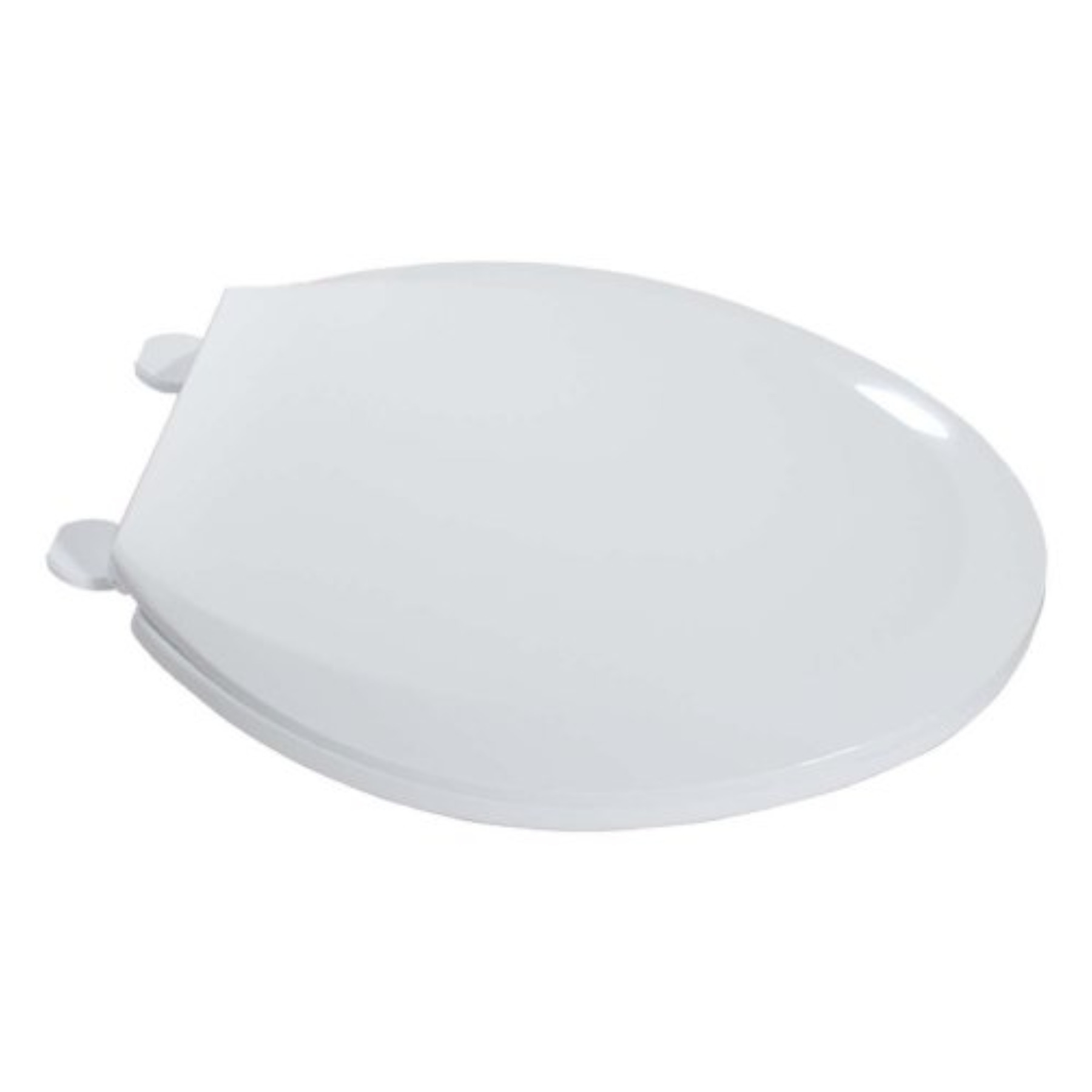 0502020Wt White Elongated Plastic Toilet Seat