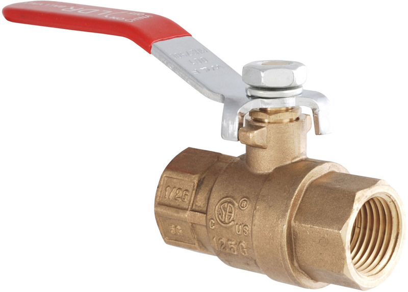 0201514 3/4 IN. BRS GAS BALL VALVE