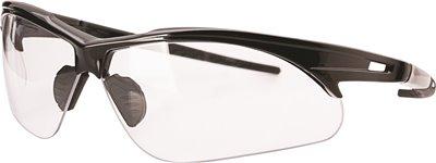 LEGENDFORCE� HARD COATED SAFETY GLASSES, BLACK FRAME, CLEAR LENS