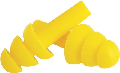 LEGENDFORCE� TPR EAR PLUGS, CORDLESS, YELLOW, 200 PER BOX