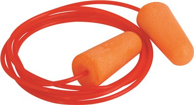 LEGENDFORCE� FOAM EAR PLUGS WITH CORD, ORANGE, 100 PER BOX