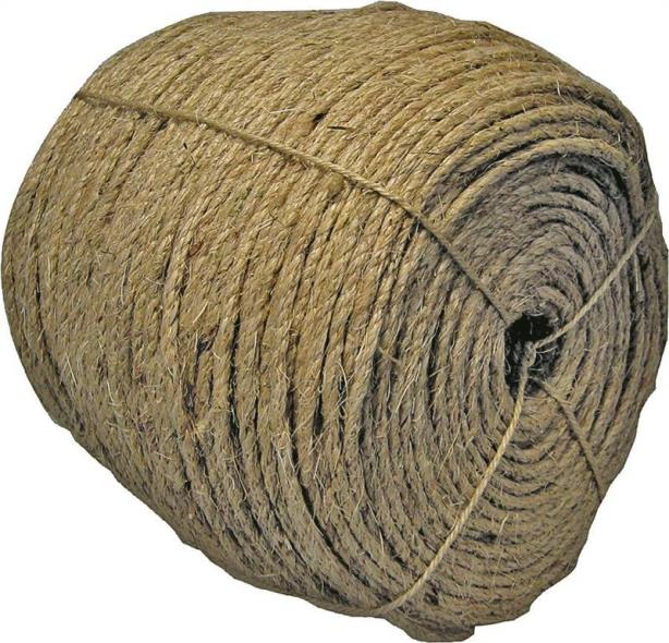 Wellington 88053 Sisal Rope, 1/4 in Dia x 1500 ft L, Fiber, Natural