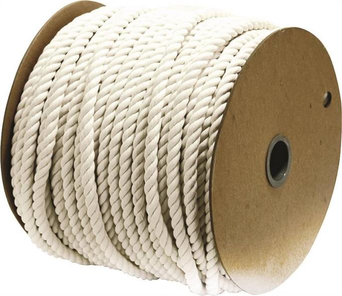 Wellington 11285 Pioneer Twisted Rope, 1/2 in Dia x 300 ft L, Cotton/Synthetic Yarn