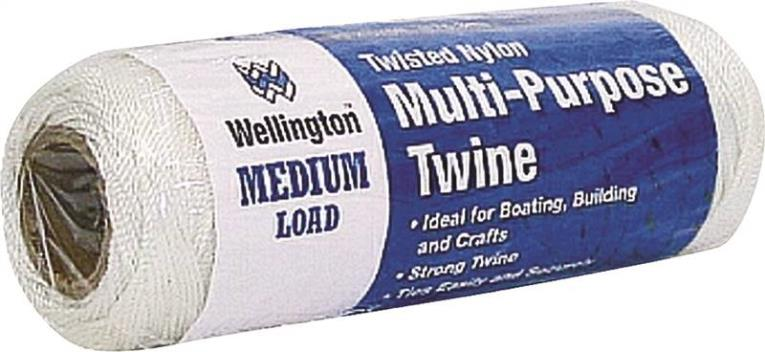 Wellington Puritan Twisted Seine Twine, NO 9 575 ft L, Nylon, White