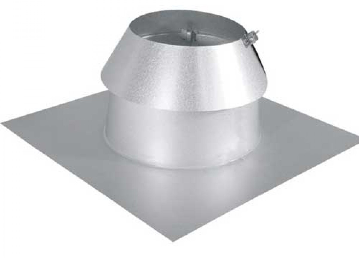 "6"" Secure Temp Roof Flashing, Flat, Galvalume"