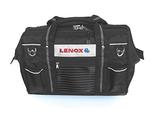 Lenox 1787426 Contractor Large Open Mouth Tool Bag, 9 in L X 16 in W X 10 in D