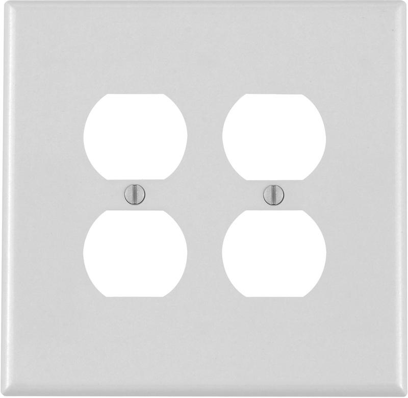 001-88116 W 2GANG DUPLEX PLATE