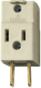 R52-00531 WHITE 15A 3OUT ADAPTER