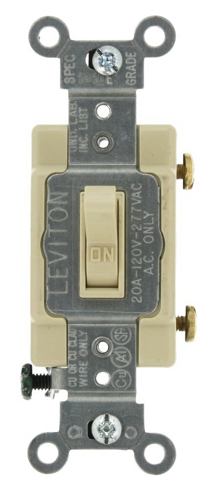 SWITCH TOGGLE 20A IVORY
