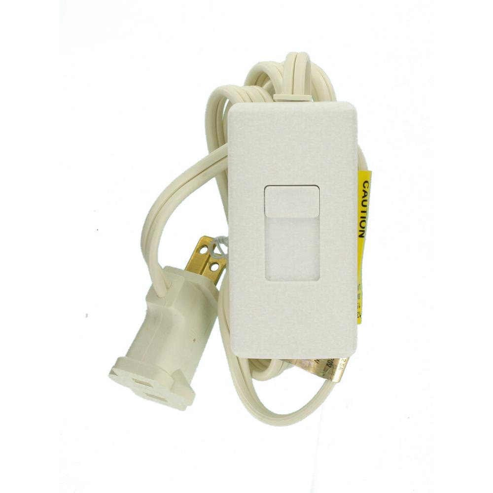 DIMMER PLUG IN LAMP WHT