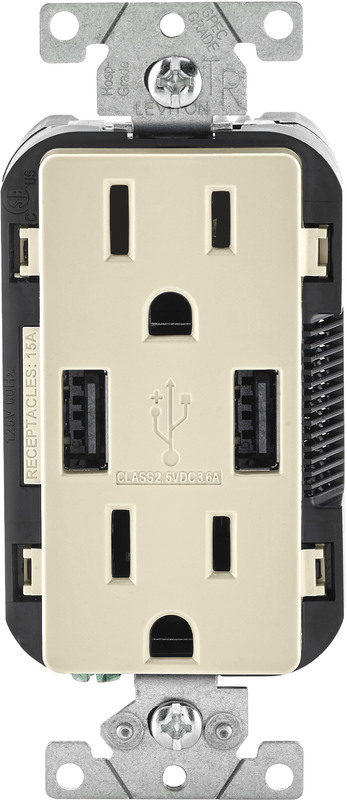 TAMPER RESISTANT OUTLET/USB CH