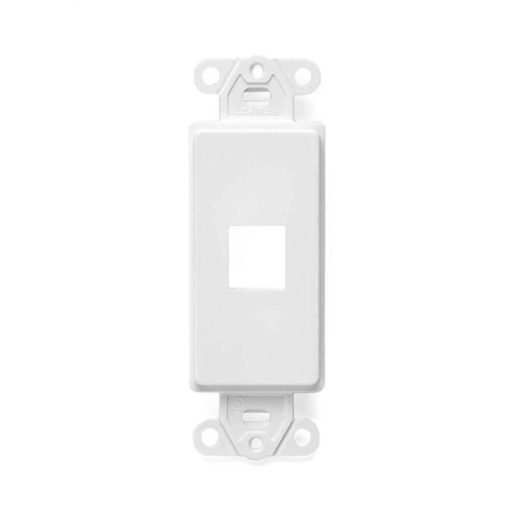 Leviton QuickPort Decora Wall Plate Insert, 1 Gang, 2.61 in L X 1.29 in W 0.22 in T, White