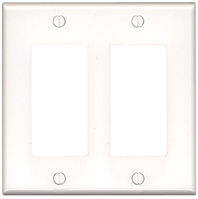 WALLPLATE 2DECORA MID WHITE