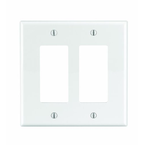 WALLPLATE 2DEC NYLN MID WHT