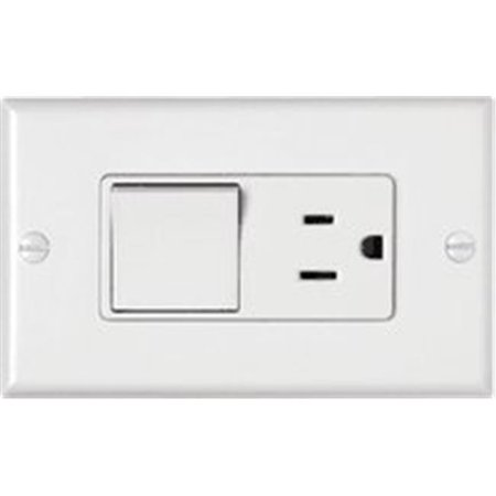 Leviton Decora Combination Switch, 15 A, 125 VAC