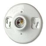 Leviton B01-09875-000 1-Piece Keyless Top Wired Lamp Holder, 660 W, Incandescent/Fluorescent/CFL, Medium, White