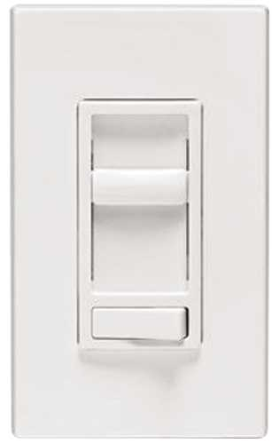 Leviton SureSlide Decora Electro Mechanical Preset Universal Slide Dimmer, 120 VAC, 600/150 W, 1 P, 3 Way, White