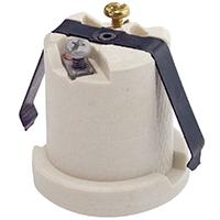 Leviton 002-08880-000 1-Circuit 1-Piece Keyless Lamp Holder, 660 W, Incandescent, Medium, White