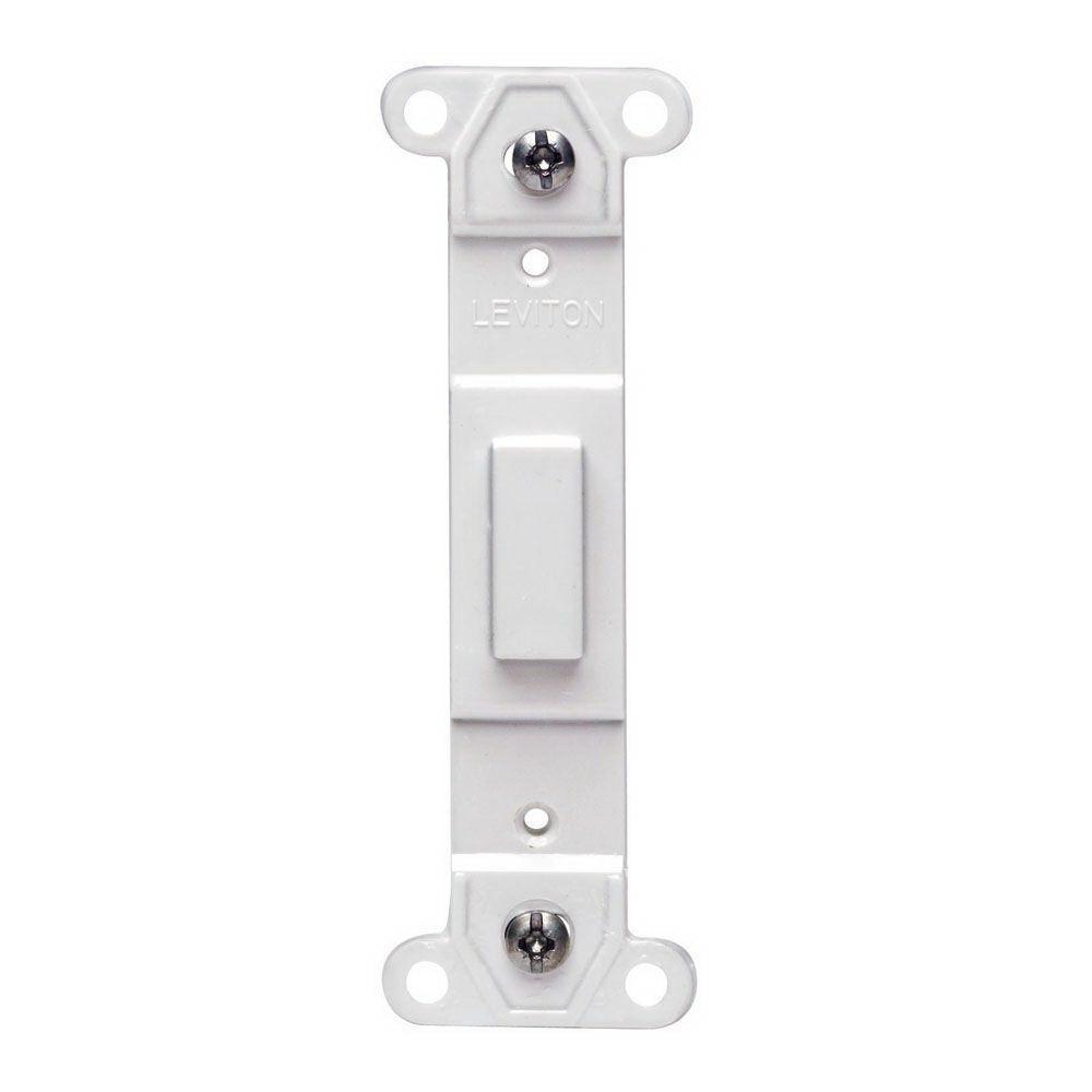 Leviton 002-80700-00W Blank Toggle Insert, White