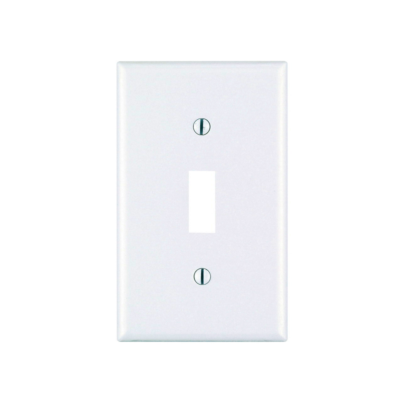 Leviton M56-78001-TMP 1-Toggle Standard Size Wall Plate, 1 Gang, 4-1/2 in L X 2-3/4 in W 0.22 in T, Light Almond