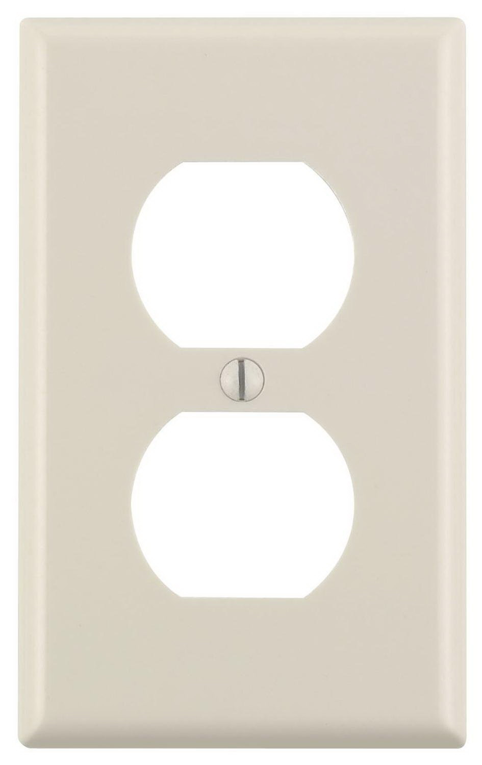 Leviton M56-78003-TMP 1-Duplex Receptacle Standard Size Wall Plate, 1 Gang, 4-1/2 in L X 2-3/4 in W 0.22 in T, Smooth