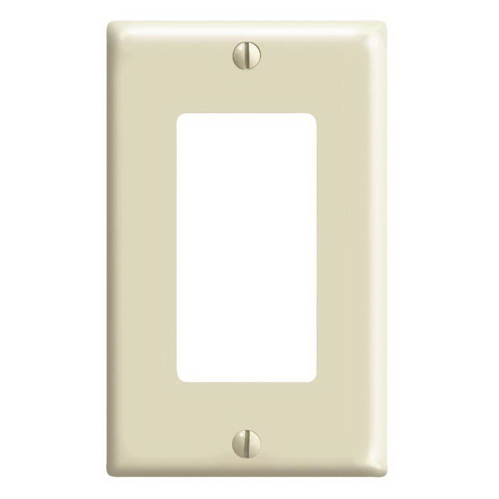 WALLPLATE 1DEC IVORY 10PK