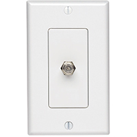 Leviton Decora Coaxial Jack Cover With Wallplate, 1 Gang