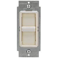 Leviton C28-06672-1LT Universal Dimmer Switch, 120 A, 150 W, 1 P, Light Almond