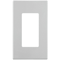 Leviton Decora Plus C32-80301-0SW Wall Plate, 1 Gang, 4.61 in L x 2-3/4 in W 0.26 in T, White