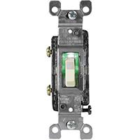 Leviton S01-01461-GLI Toggle Switch, 120 V, 15 A, Ivory