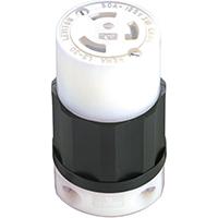Leviton 165-02613-000 Locking Connector, 125 V, 30 A, 2 Pole, 3 Wire, Impact Modified Nylon, 0.385 - 0.86 in