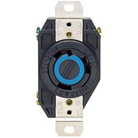 Leviton S01-02620-00D Single Receptacle, 250 VAC, 30 A, 2 Pole, 3 Wire, Black