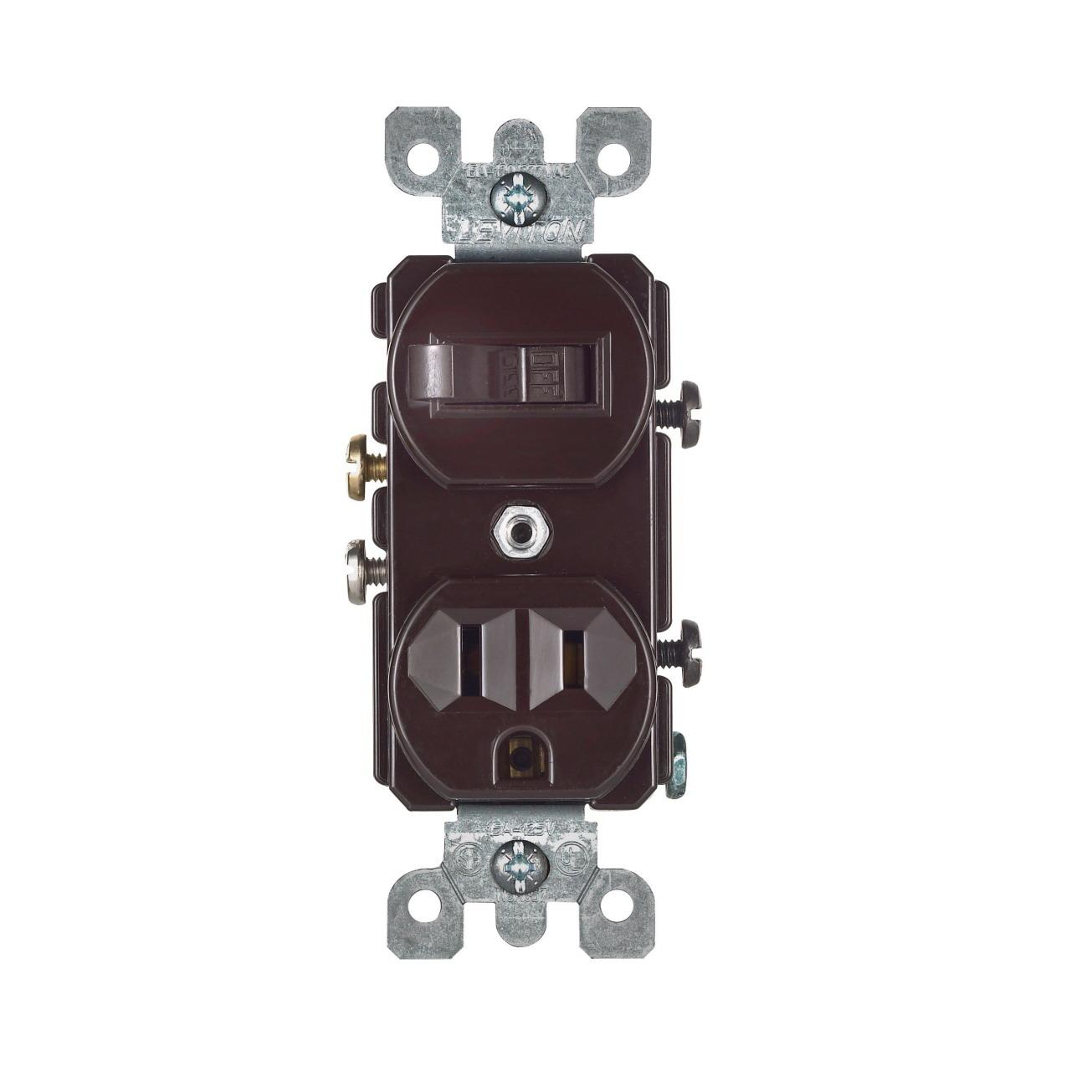 Leviton S00-05225-00S Multi-Purpose Tamper Resistant Combination Switch, 1 P, 15 A, 120 VAC