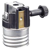 Leviton Electrolier 1-Circuit Lamp Holder, 250 W, Incandescent, Medium, Black, Phenolic Body, Aluminum Shell