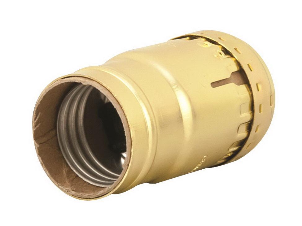 Leviton Electrolier 1-Circuit Keyless Lamp Holder, 660 W, Incandescent, Medium, Brass