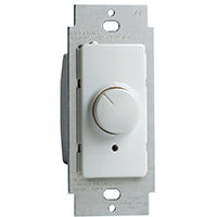 Leviton IllumaTech Decora Electro Mechanical Preset Rotary Dimmer, 120 VAC, 600 W, 1 P, 3 Way, White