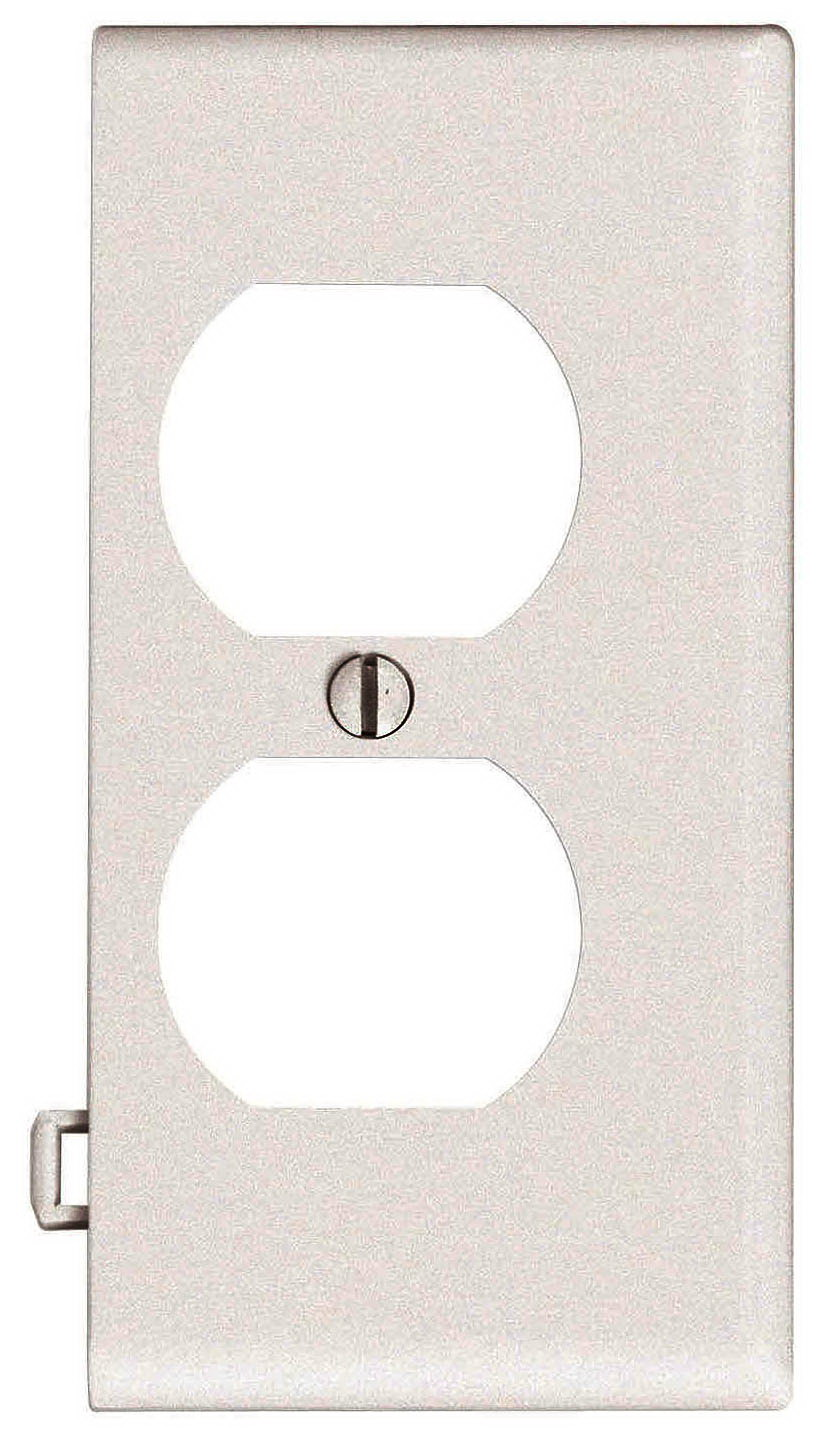 Leviton 924-0PSE8-00I Duplex Receptacle Sectional Wall Plate, 1 Gang, Ivory