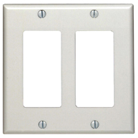 WALLPLATE WHITE 2-GANG