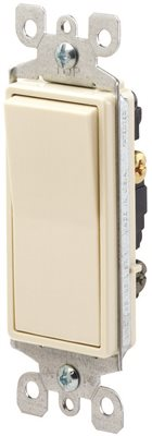 LEVITON� DECORA� 3-WAY RESIDENTIAL GRADE AC QUIET ROCKER SWITCH, LIGHT ALMOND, 120 / 277 VOLTS, 15 AMPS