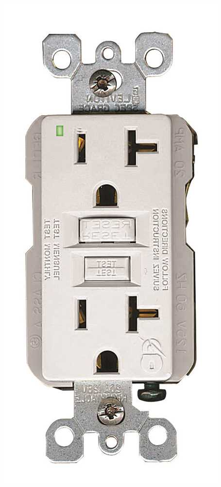 LEVITON� SMARTLOCKPRO� 2-POLE RESIDENTIAL GRADE DUPLEX GFCI RECEPTACLE WITH LED, WHITE, NEMA 5-20R, 125 VOLTS, 20 AMPS