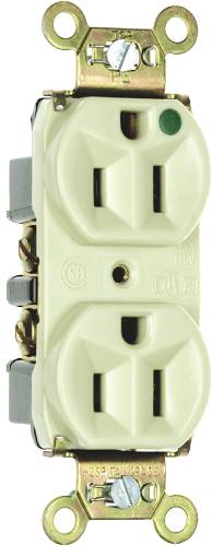 DUPLEX OUTLET 15AMP HOSPITAL GRADE IVORY