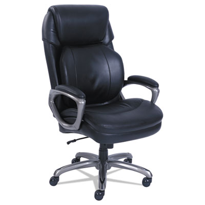 Cosset Big and Tall Executive Chair, Supports up to 400 lbs., Black Seat/Black Back, Slate Base