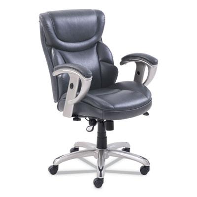Emerson Task Chair, Supports up to 300 lbs., Gray Seat/Gray Back, Silver Base