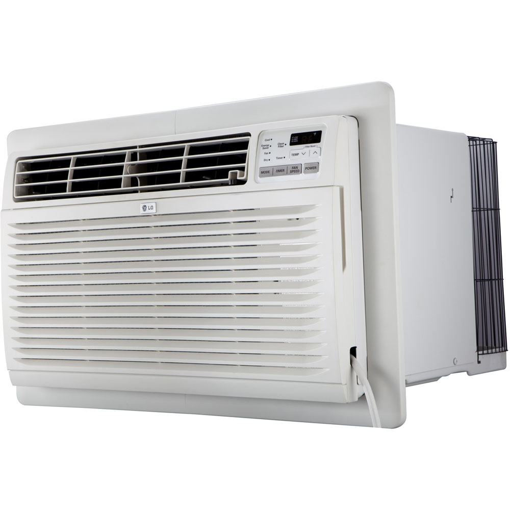 Through-The-Wall Air Conditioner with Remote Control, 11,500 BTU, 230V, Trim Kit Included